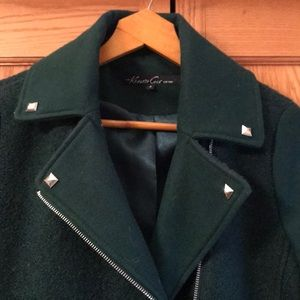 GORGEOUS GREEN WOOL BLEND KENNETH COLE COAT